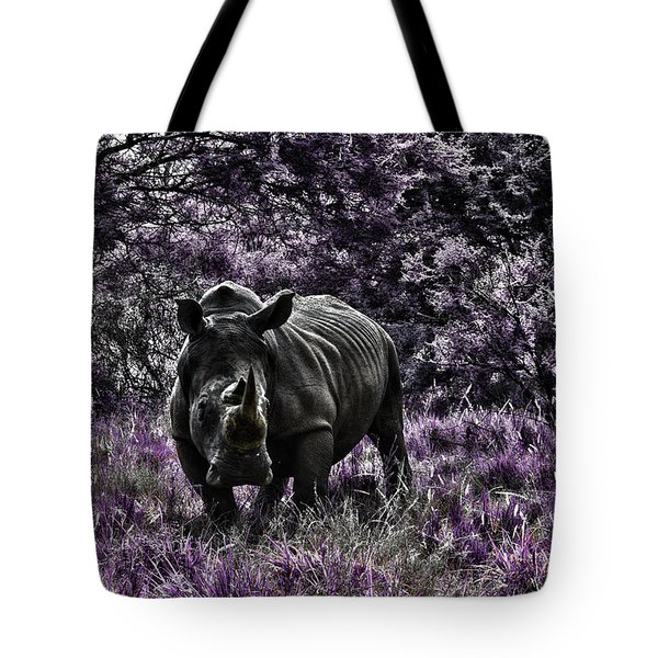 Styled Environment-the Modern Trendy Rhino Tote Bag by Douglas Barnard