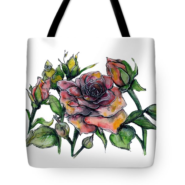 Stylized Roses Tote Bag