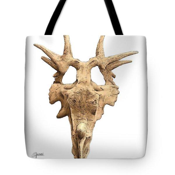 Styracosaur Skull Tote Bag