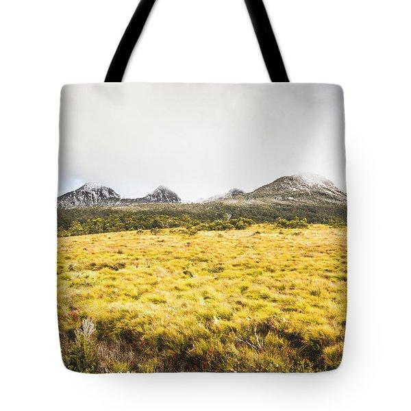 Sub Alpine Range Tote Bag