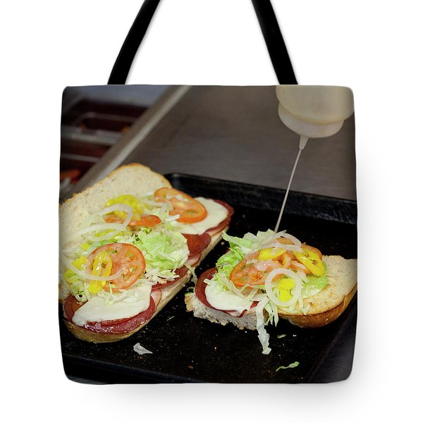 Sub Getting The Works Tote Bag