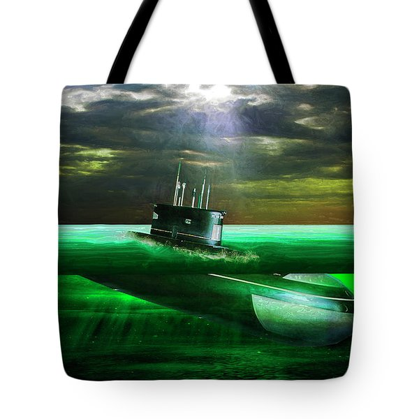 Submarine Tote Bag by Michael Cleere