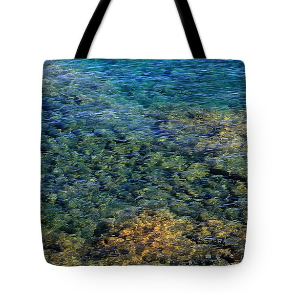 Submerged Rocks At Lake Superior Tote Bag