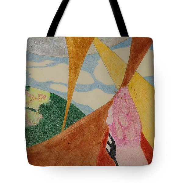 Tote Bag featuring the drawing Subteranian  by Rod Ismay