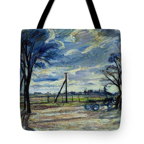 Suburban Landscape In Spring  Tote Bag by Waldemar Rosler