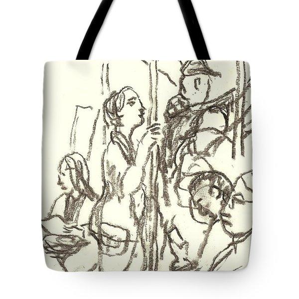 Subway Composition, Nyc Tote Bag