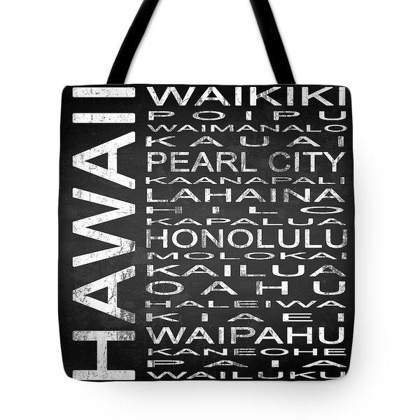 Subway Hawaii State Square Tote Bag
