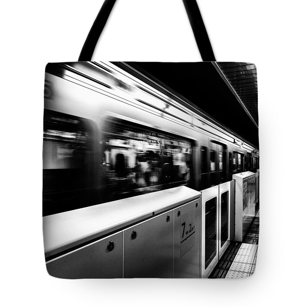 Subway Tote Bag by Hayato Matsumoto