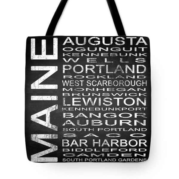 Subway Maine State Square Tote Bag