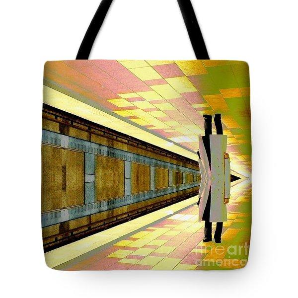 Subway Man Tote Bag