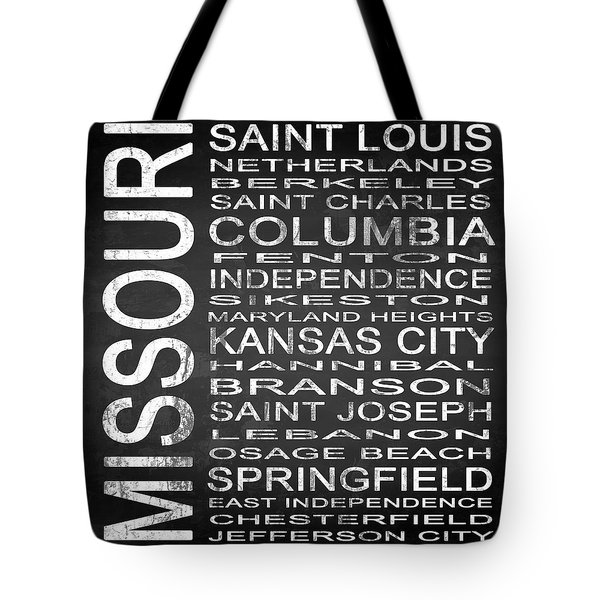 Subway Missouri State Square Tote Bag