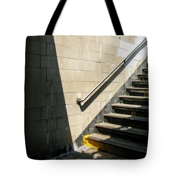 Subway Stairs Tote Bag