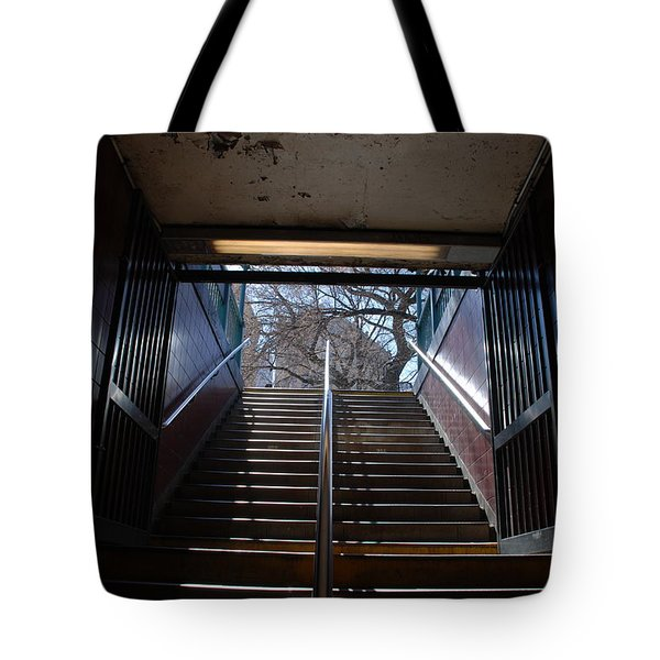 Subway Stairs To Freedom Tote Bag by Rob Hans