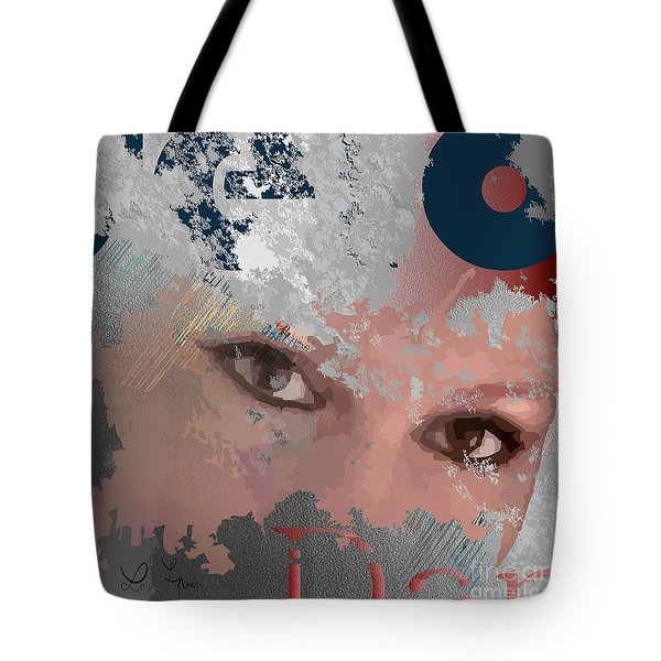 Tote Bag featuring the digital art Subway Walls by Leo Symon