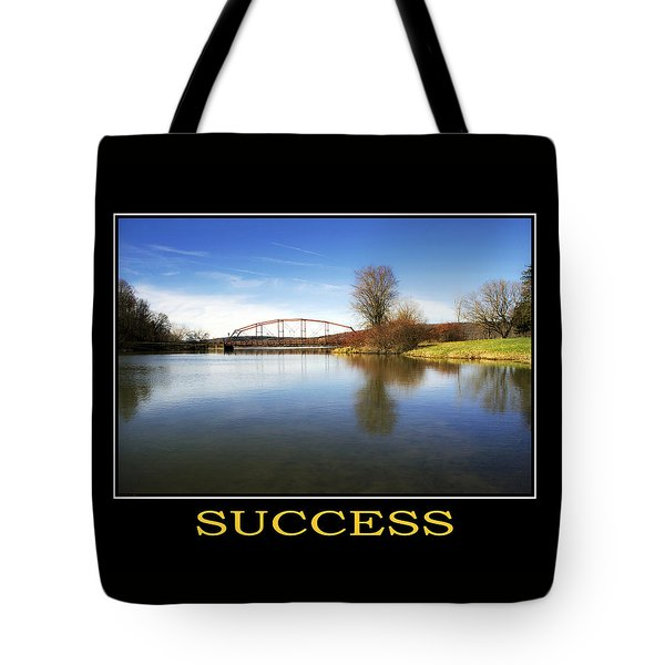 Success Inspirational Motivational Poster Art Tote Bag by Christina Rollo