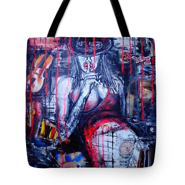 Tote Bag featuring the painting Succubus 2 by Viktor Lazarev