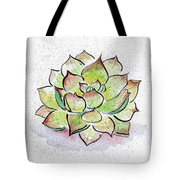 Succulent Tote Bag by Diane Thornton