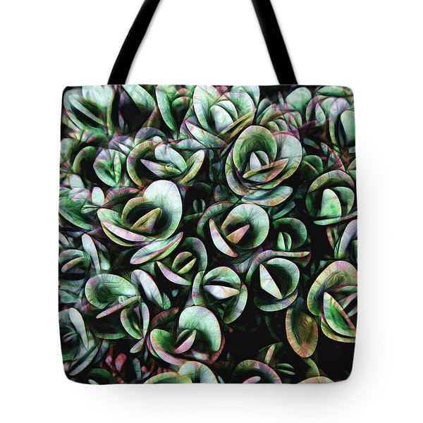 Tote Bag featuring the photograph Succulent Fantasy by Ann Powell