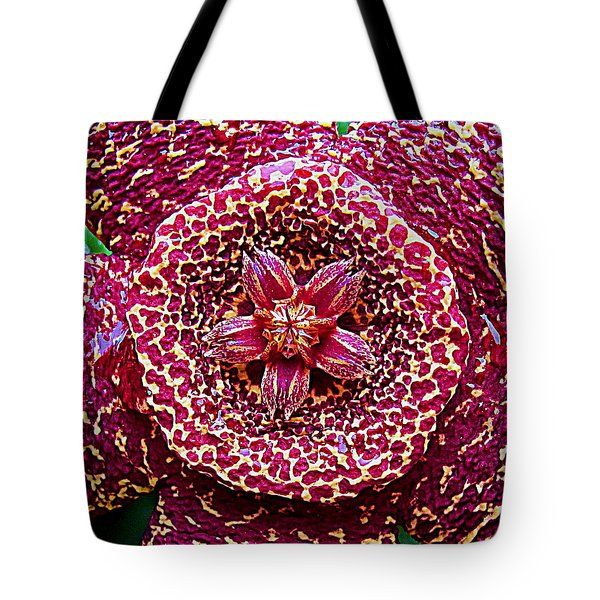 Succulent Flower 13 Carrion Plant Tote Bag