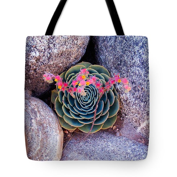 Succulent Flowers Tote Bag by Mark Barclay