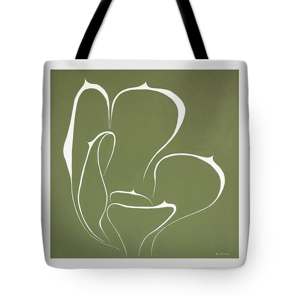 Tote Bag featuring the painting Succulent In Green by Ben Gertsberg