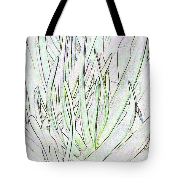 Succulent Leaves In High Key Tote Bag by Nareeta Martin