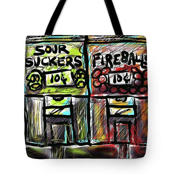 Tote Bag featuring the digital art Suck Balls by Joe Bloch
