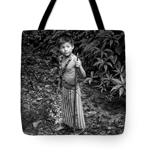 Tote Bag featuring the photograph Sucua Kids 898 by Al Bourassa