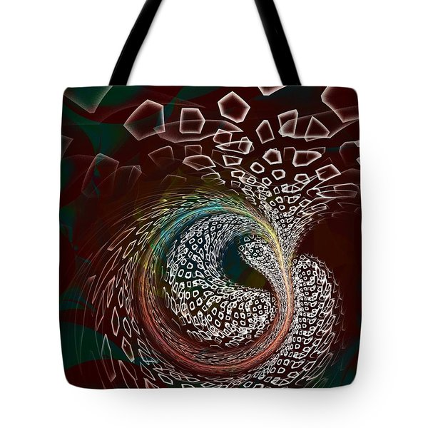 Tote Bag featuring the digital art Sudden Outburst by Anastasiya Malakhova