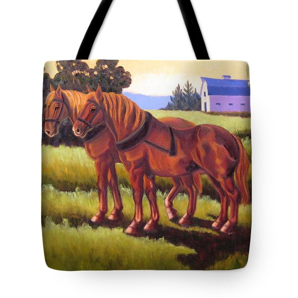 Suffolk Punch Day Is Done Tote Bag
