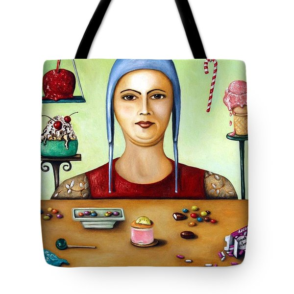 Sugar Addict Tote Bag by Leah Saulnier The Painting Maniac