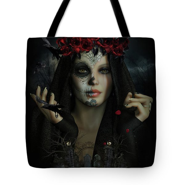 Tote Bag featuring the digital art Sugar Doll Magic by Shanina Conway