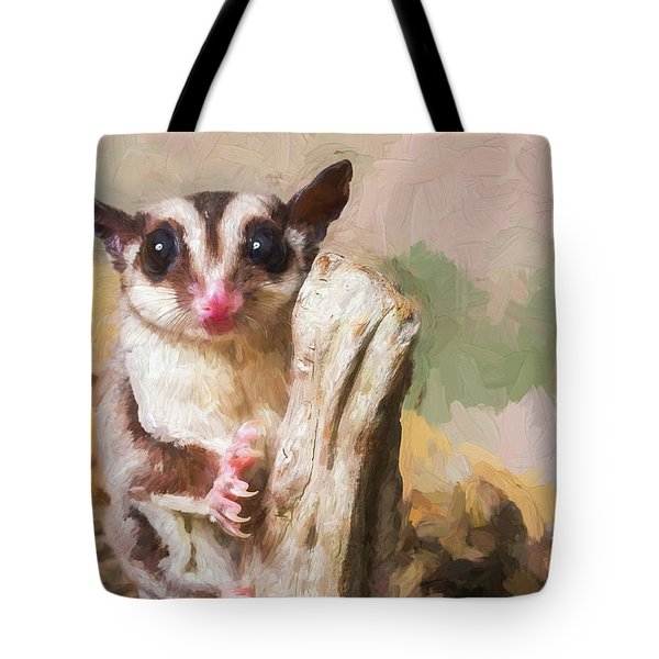 Sugar Glider - Painterly Tote Bag