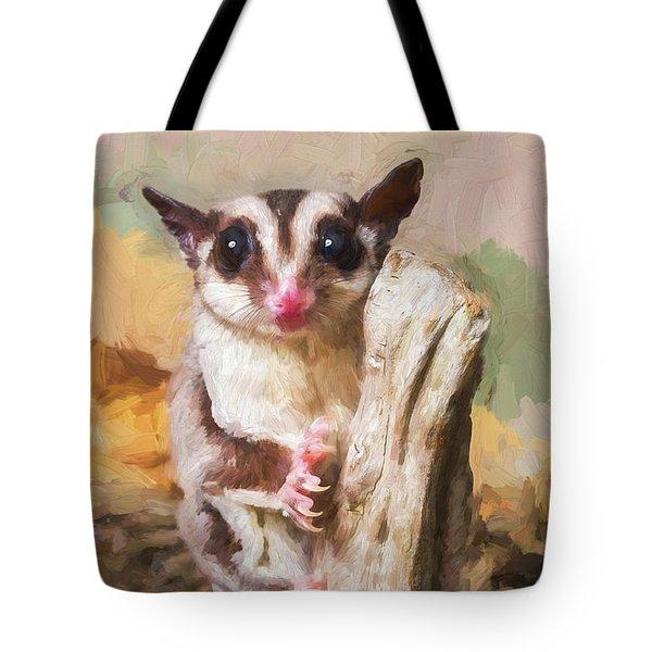 Sugar Glider - Painterly Tote Bag