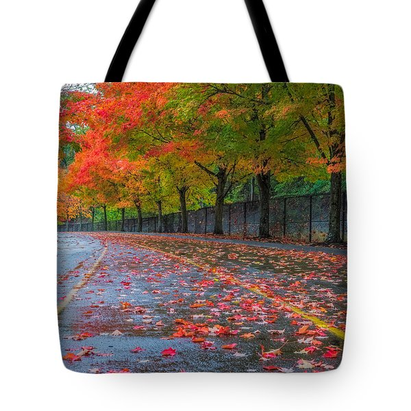 Sugar Maple Drive Tote Bag by Ken Stanback