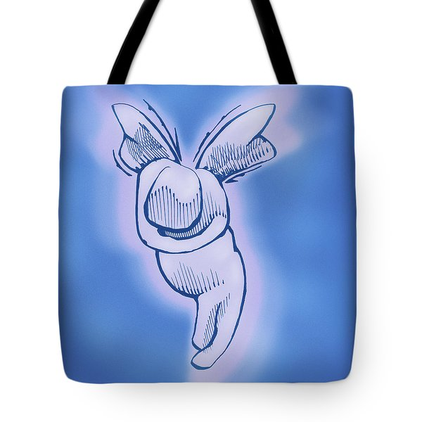Tote Bag featuring the drawing Sugar Plum by Keith A Link