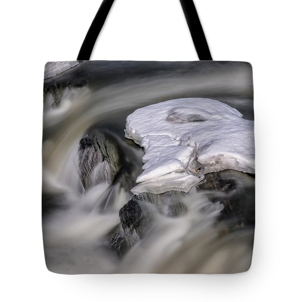 Tote Bag featuring the photograph Sugar River Flowing by Tom Singleton