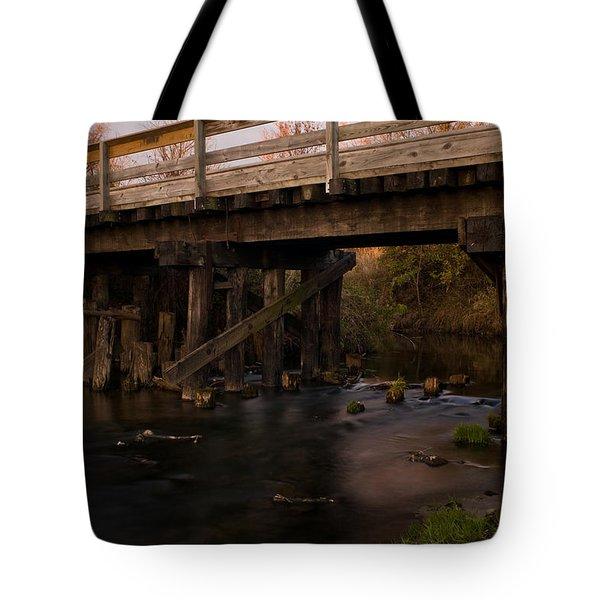 Sugar River Trestle Wisconsin Tote Bag by Steve Gadomski