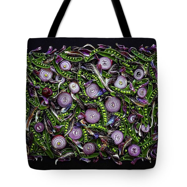 Sugar Snap Peas And Red Onion Mix Tote Bag
