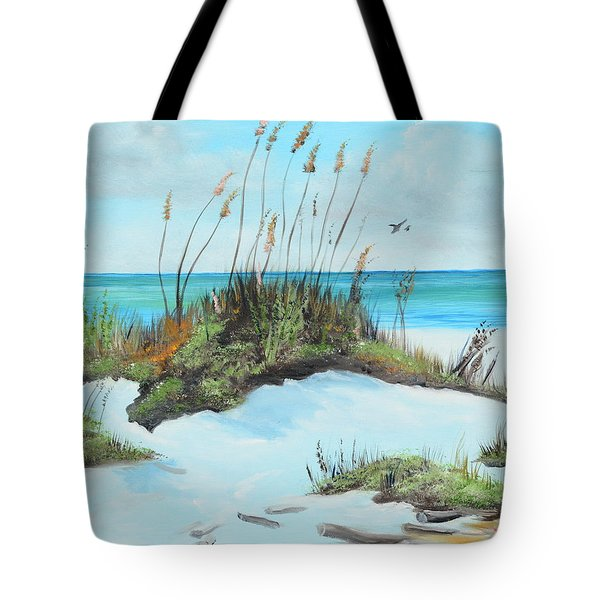 Sugar White Beach Tote Bag