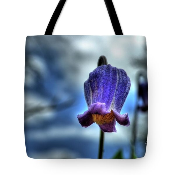 Sugarbowl Leather Flower Tote Bag