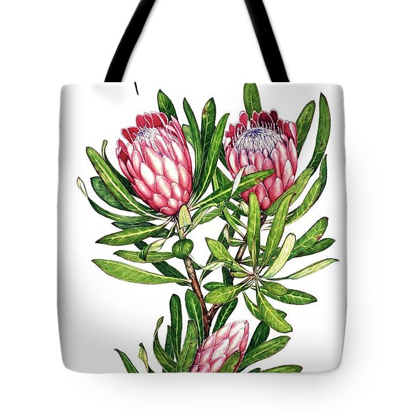 Tote Bag featuring the painting Sugarbush And The Humming Bird by Heidi Kriel