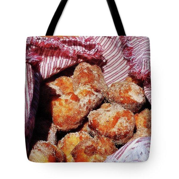 Sugared Donut Holes Tote Bag by Susan Savad