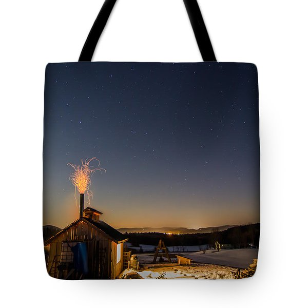Sugaring View With Stars Tote Bag by Tim Kirchoff