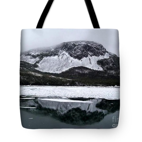 Sugarloaf Hill Reflections In Winter Tote Bag by Barbara Griffin