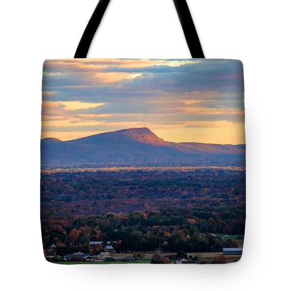Sugarloaf View, South Deerfield, Ma Tote Bag