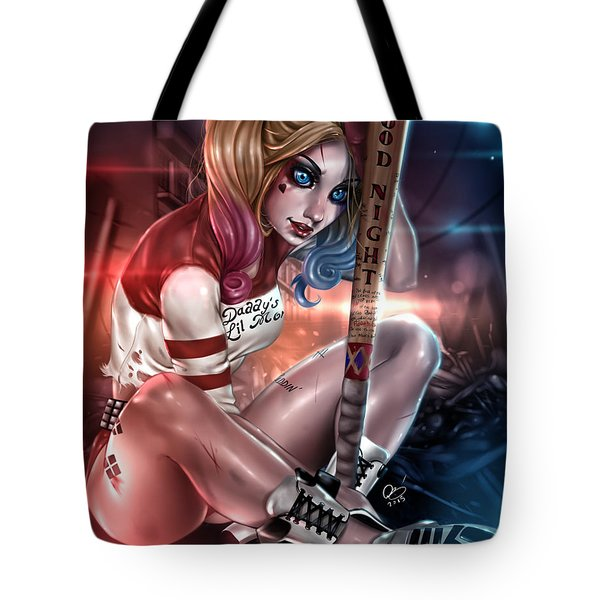 Tote Bag featuring the painting Suicide Harley by Pete Tapang
