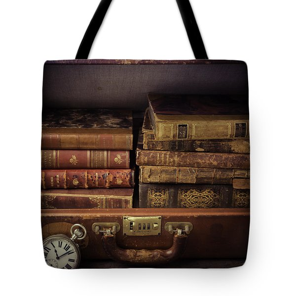 Suitcase Full Of Books Tote Bag