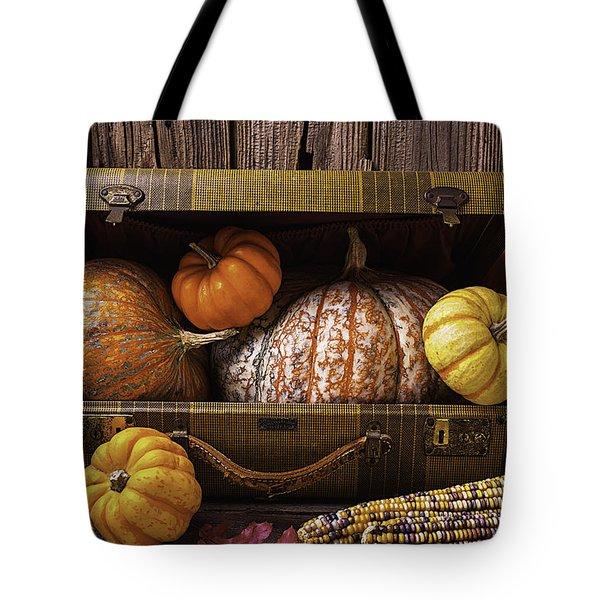 Suitcase Full Of Pumpkins Tote Bag