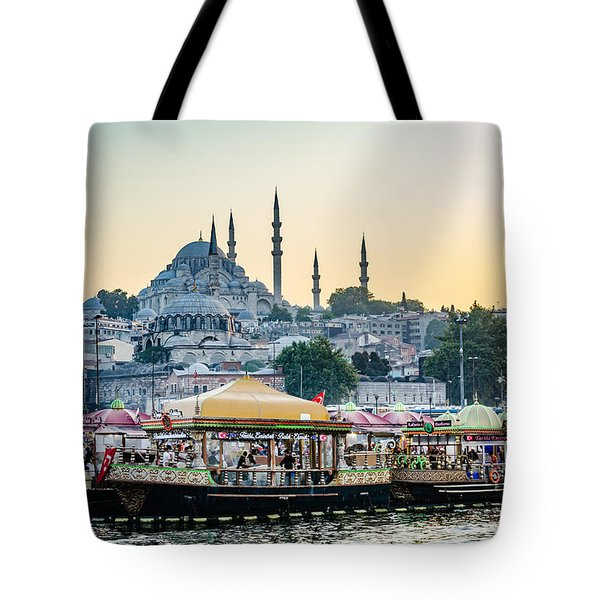 Suleymaniye Mosque At Sunset Tote Bag